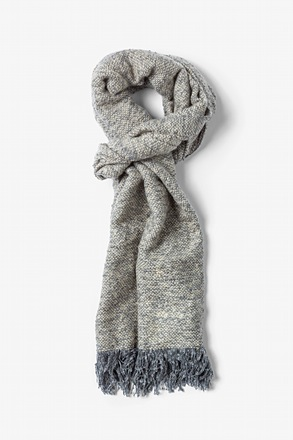 Gray Baltimore Heathered Scarf