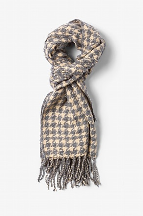 Gray Berlin Houndstooth Scarf