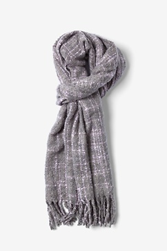 Gray Chicago Woven Scarf