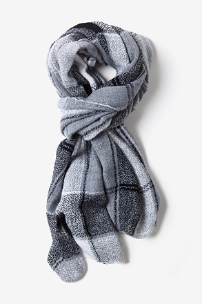Gray London Tartan Scarf