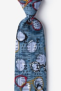Gray-blue Microfiber Optometrist Tie