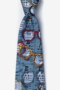 Optometrist Gray-blue Extra Long Tie Photo (0)
