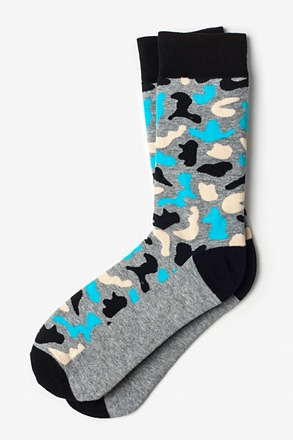 Abstract camouflage Gray Sock