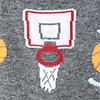 Gray Carded Cotton Basketball Nothing But Net