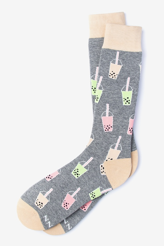 Boba is Life Gray Sock