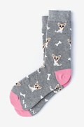 Gray Carded Cotton Bone Appetit Women's Sock