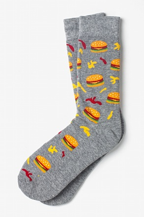_Burger Time Gray Sock_