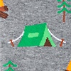Gray Carded Cotton Camping Sock