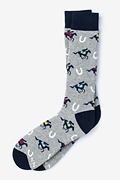 Derby Horse Racing Gray Sock Photo (0)