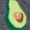 Gray Carded Cotton Guac O' Clock
