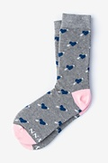 Gray Carded Cotton Head Over Heels Women's Sock