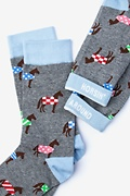 Derby Horse Gray Women's Sock Photo (1)