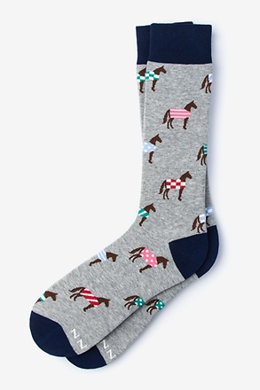 Horsin Around Gray Sock