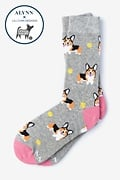 Gray Carded Cotton Life's Ruff Women's Sock