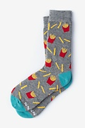 French Fries Gray Women's Sock