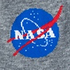 Gray Carded Cotton Nasa Meatball Logo Sock