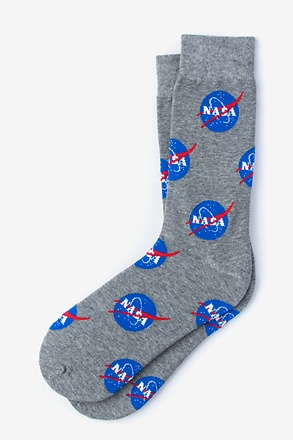 _Nasa Meatball Logo Gray Sock_