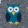 Gray Carded Cotton Owl Night Long