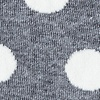 Gray Carded Cotton Pasadena Polka Dot Sock