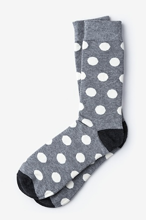 Pasadena Polka Dot Gray Sock