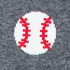Gray Carded Cotton Pitch, Please | Baseball Sock