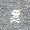 Gray Carded Cotton Skulls & Crossbones Sock