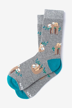 _Sloth Gray Women's Sock_
