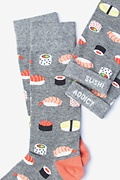 Sushi Addict Gray Sock