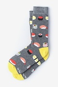 Gray Carded Cotton Sushi Addict Women's Sock