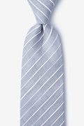 Gray Cotton Ash Extra Long Tie