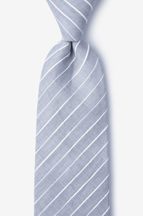 _Ash Gray Extra Long Tie_