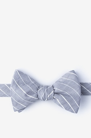 _Ash Gray Self-Tie Bow Tie_