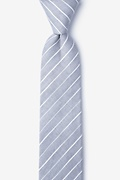 Gray Cotton Ash Skinny Tie