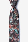 Gray Cotton Axel Skinny Tie