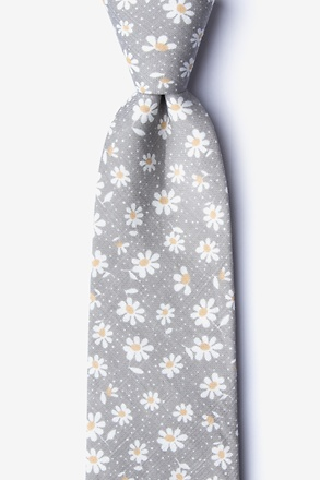Canton Gray Extra Long Tie