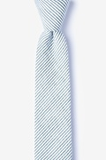 Gray Cotton Cheviot Skinny Tie