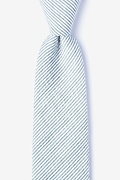 Gray Cotton Cheviot Tie