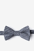 Gray Cotton Circleville Self-Tie Bow Tie
