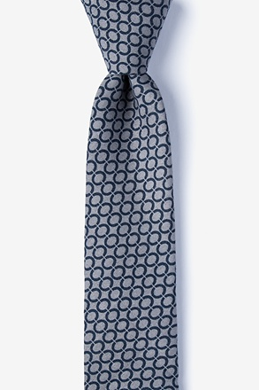 _Circleville Gray Skinny Tie_