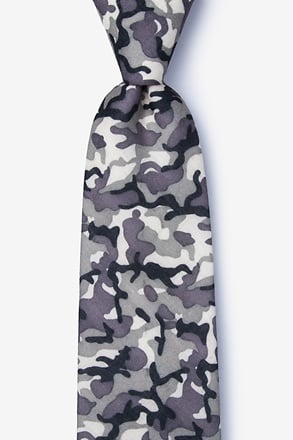 _Combat Gray Extra Long Tie_