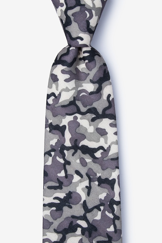 Combat Gray Extra Long Tie Photo (0)