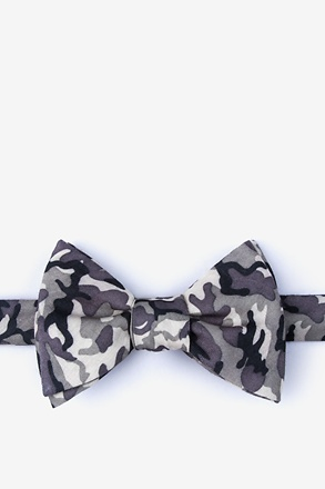 Combat Gray Self-Tie Bow Tie