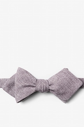 Denver Gray Diamond Tip Bow Tie
