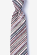 Gray Cotton Eastlake Extra Long Tie