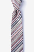 Gray Cotton Eastlake Skinny Tie