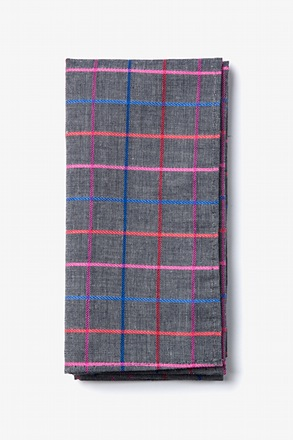 Gray Checkers Pocket Square