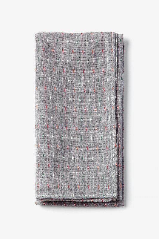 Gray Pennington Dash Pocket Square