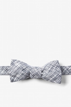 Gray Shah Batwing Bow Tie