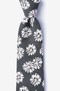 Gray Cotton Hinton Extra Long Tie