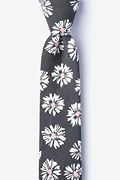 Gray Cotton Hinton Skinny Tie